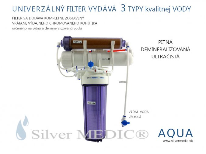 voda pitna demineralizovana ultracista univerzalny filter silvermedic aqua