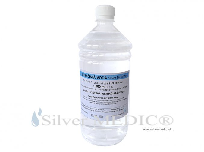 ultracista voda silvermedic 1000 ml flasa plast vyroba nano koloid special