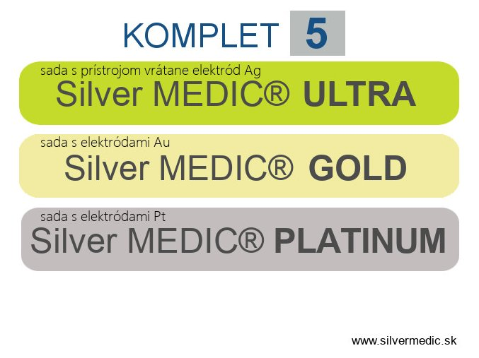 predajne sady komplet 5 silvermedic ultra gold platinum