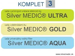 sady komplet 3 sillvermedic ultra gold aqua