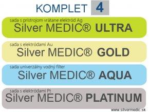 sady komplet 4 sillvermedic ultra aqua gold platinum