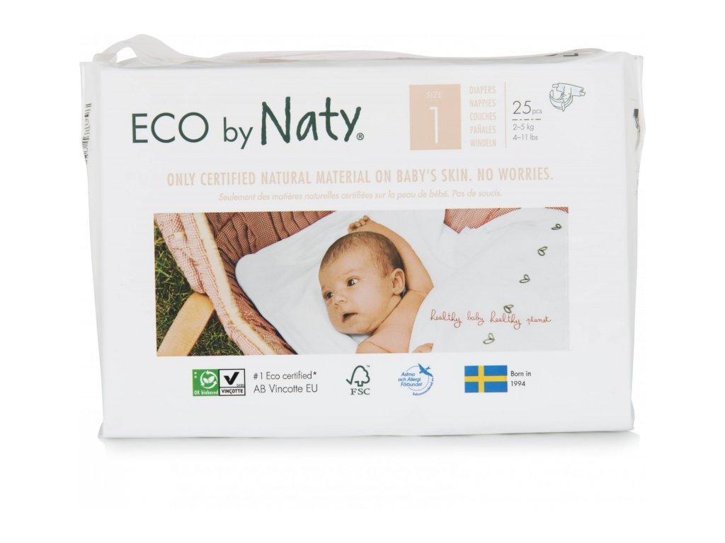 NATY ekoplenky pro novorozence 1 (2-5 kg) (25 ks)
