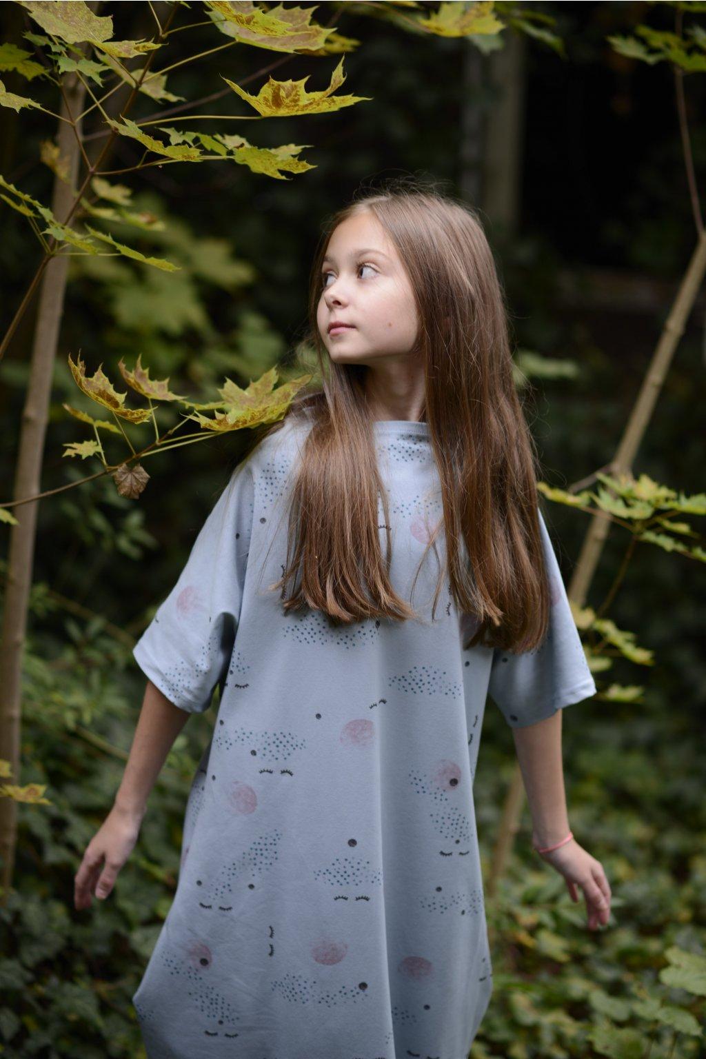 Šaty z teplákoviny - Jablíčka