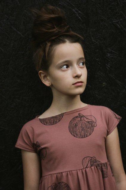 Dětské letní šaty úplet s autorským potiskem