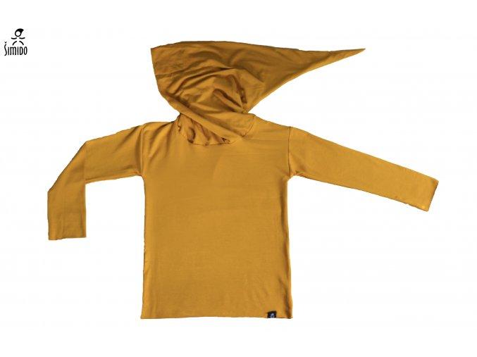 Bambusové triko s kapucí
