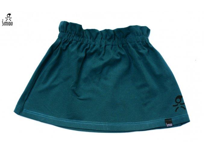 sukně úplet basic lahvově zelená
