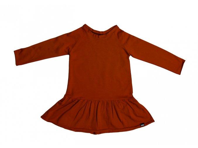 šaty rezavé