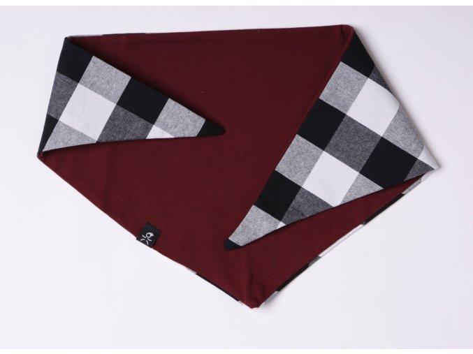 šátek bordo
