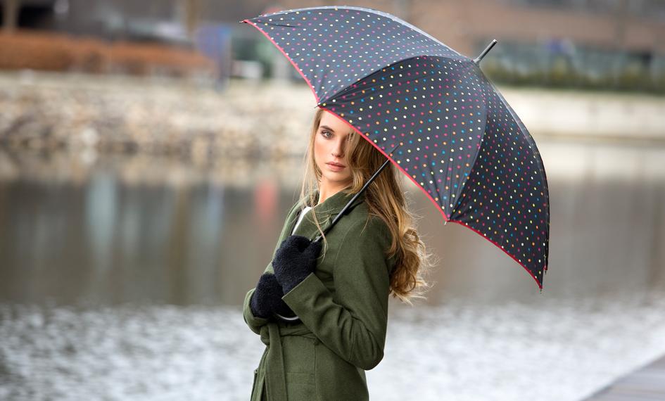 Dámský deštník Puntíkový