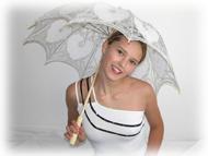Svatební deštníky, paraplíčka a vějíře