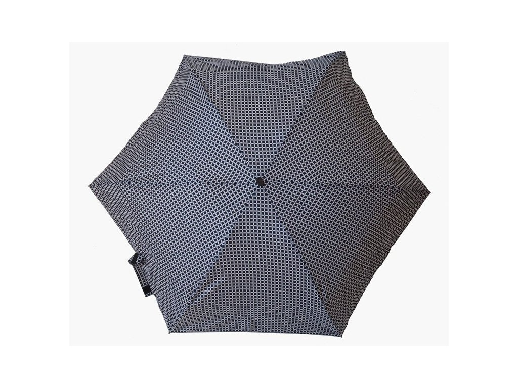 Dámský skládací deštník mini ČB Mřižka