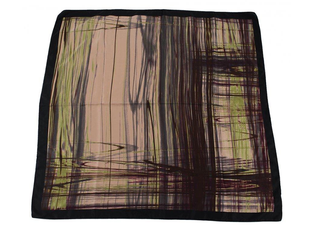 Dámský šátek 90x90 polyester Italy 1131