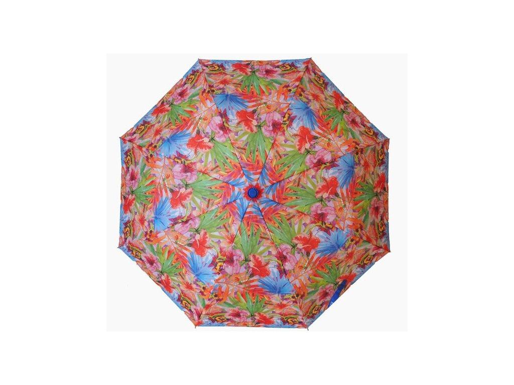 Skládací vystřelovací deštník Barevné květiny2