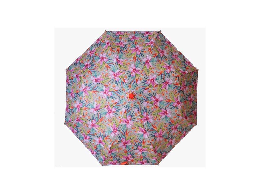 Skládací vystřelovací deštník Barevné květiny6
