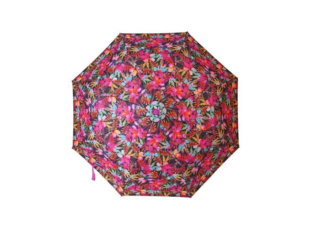 Skládací vystřelovací deštník Barevné květiny1