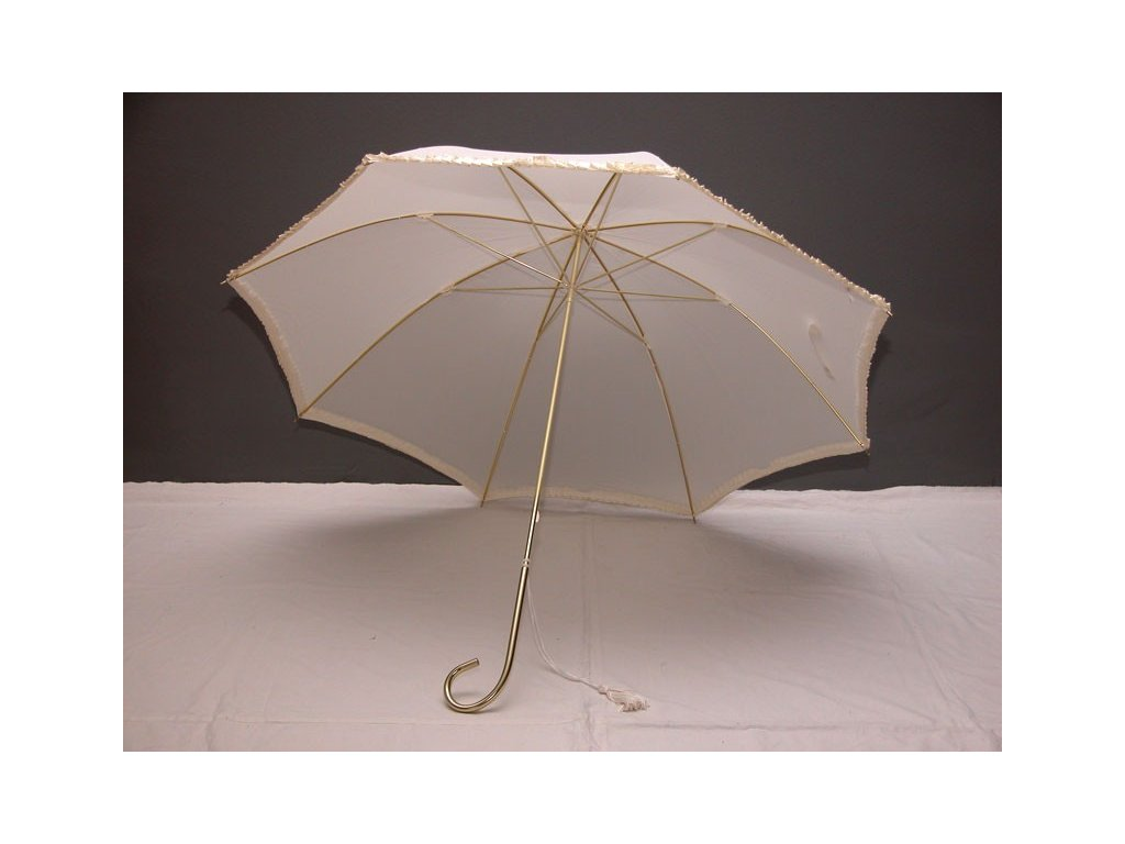 Svatební  deštník s volánkem
