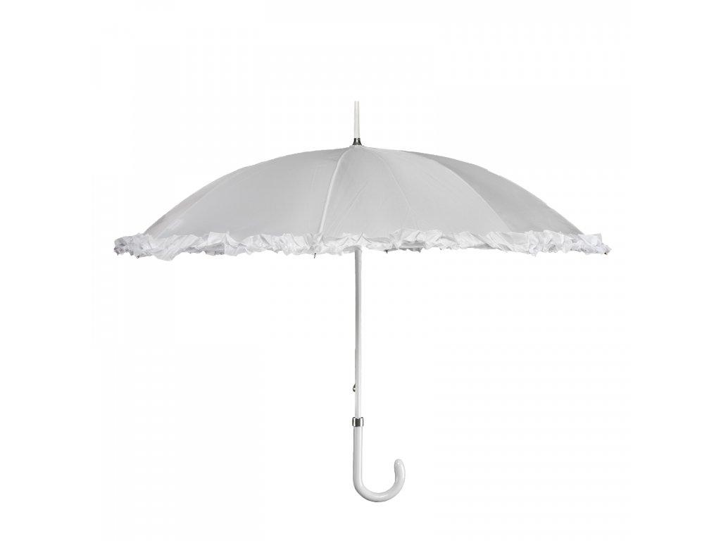 Svatební  deštník s volánem