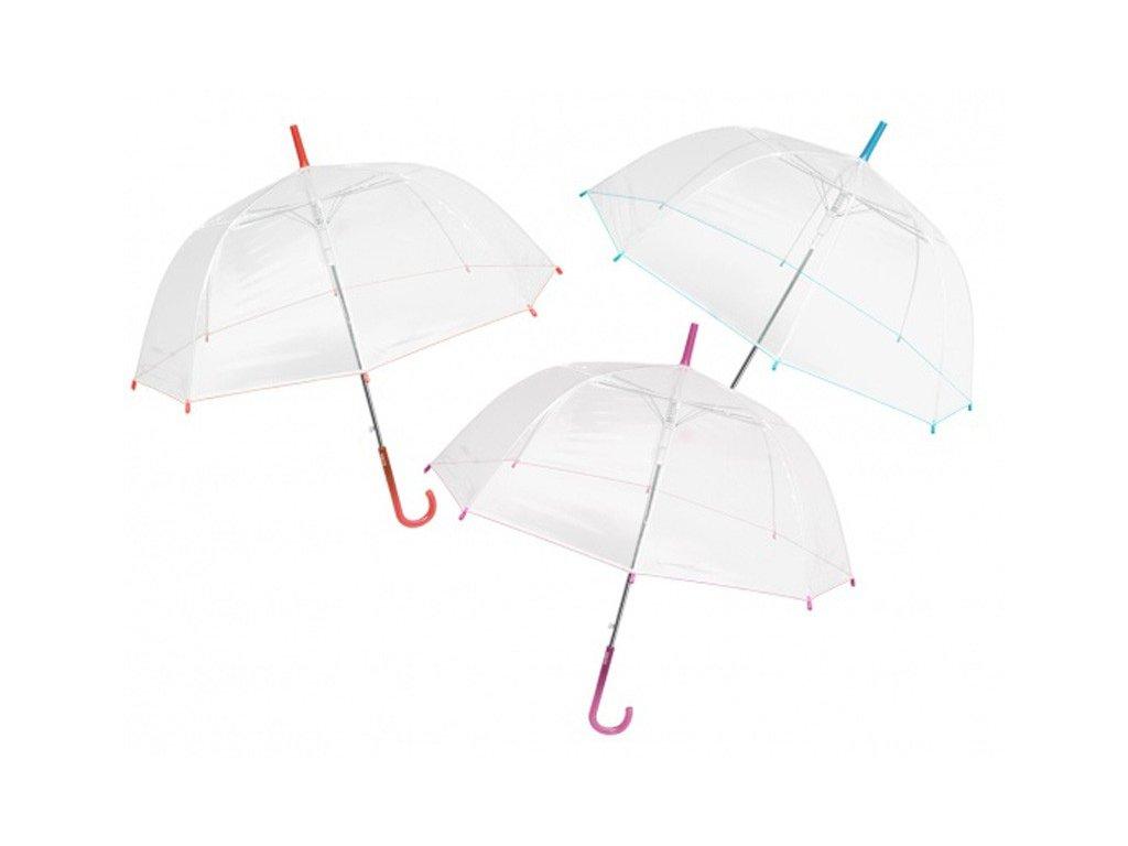 Průhledný deštník s lemem