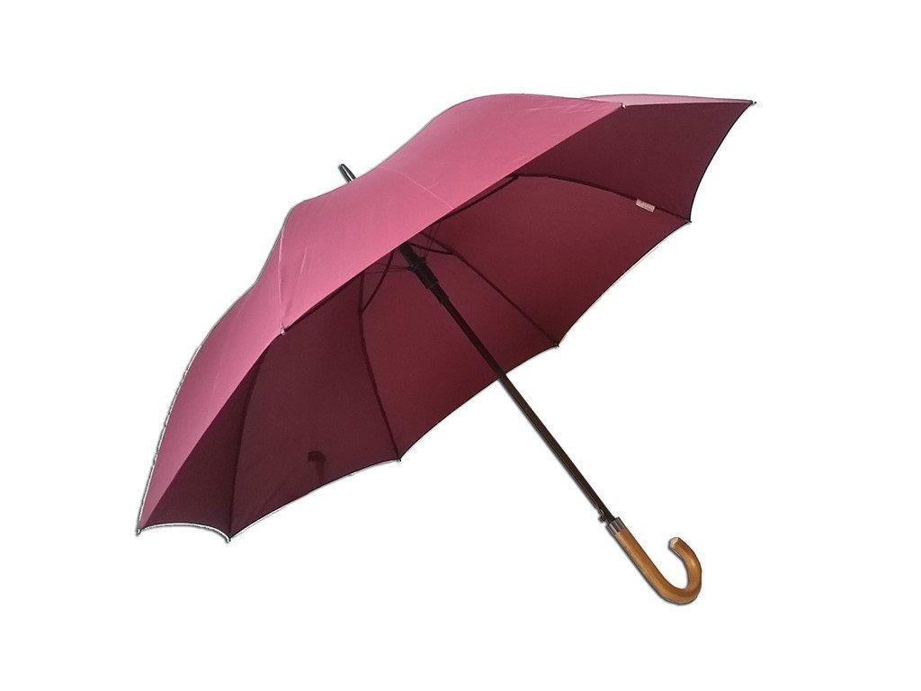 Pánský  jednobarevný deštník vínový
