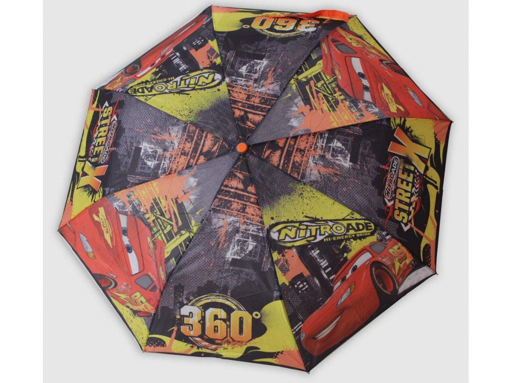 Dětský skládací deštník Auta velký obr.