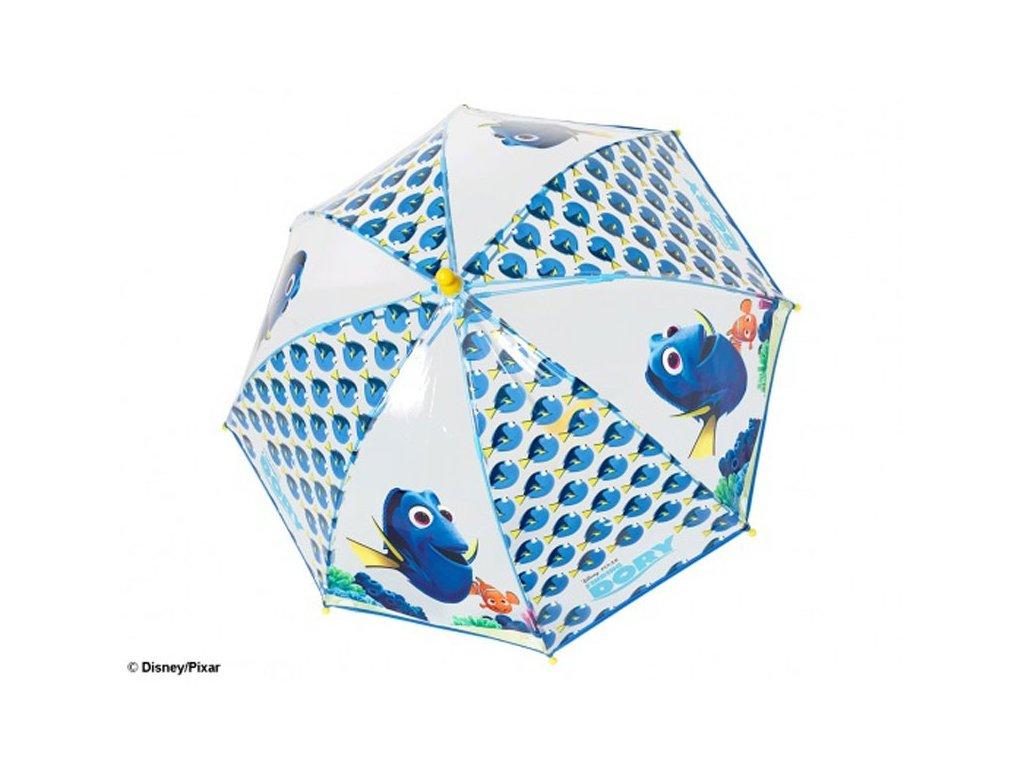 Dětský průhledný deštník Hledá se Dory rybičky