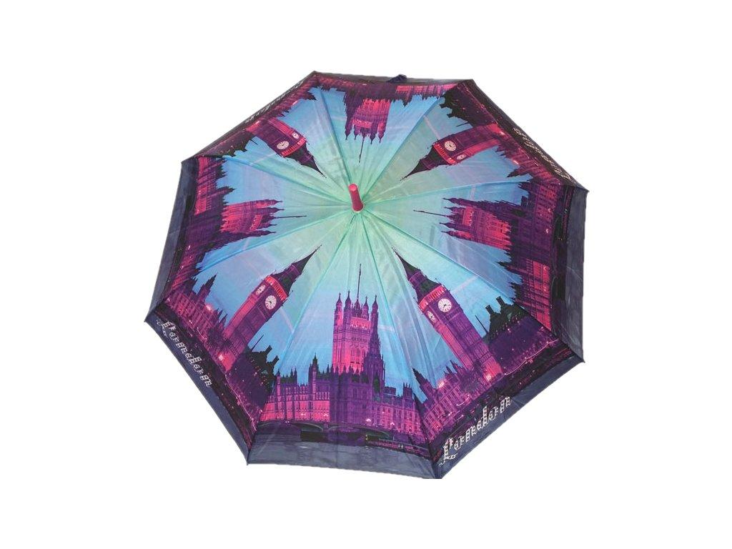 Dámský holový deštník Londýn fialový