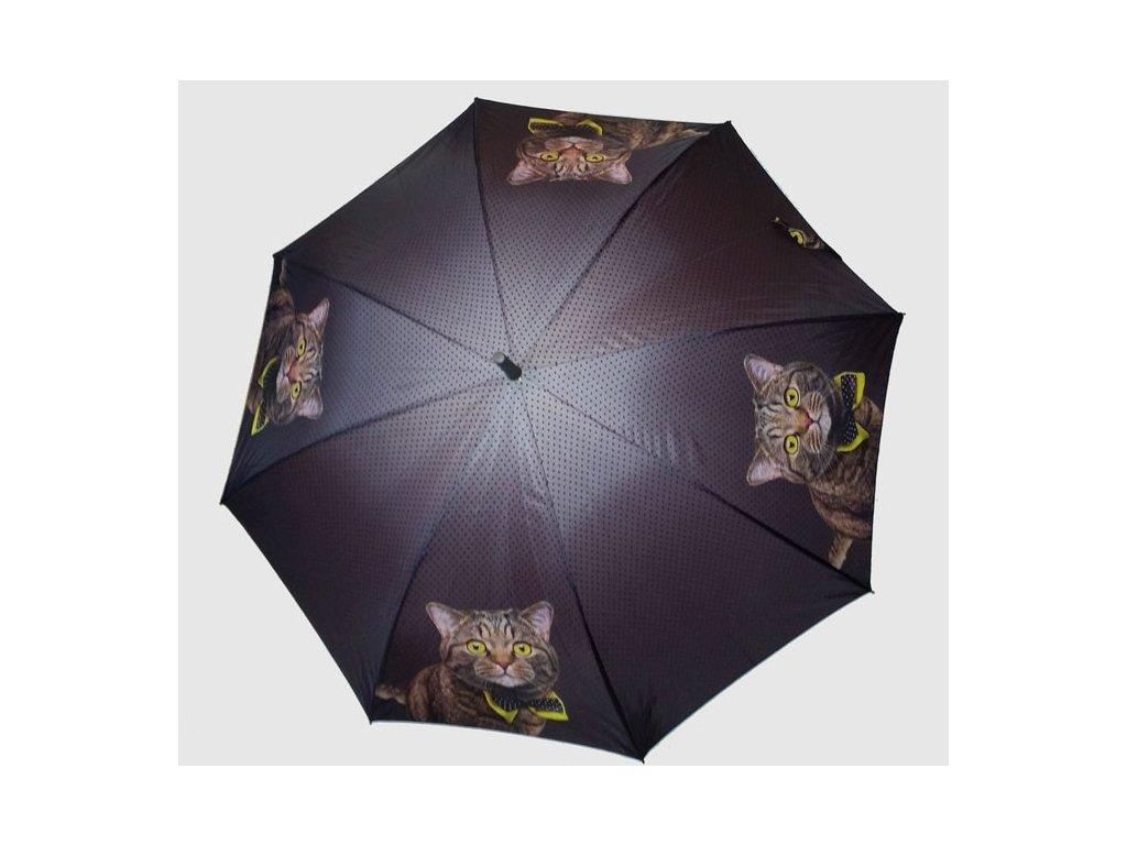 Dámský holový deštník POP Kočka s motýlkem