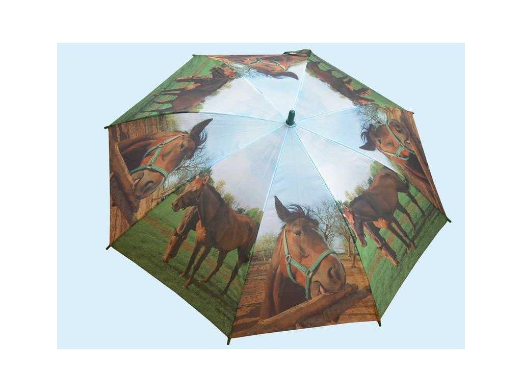 Dětský holový deštník Koně