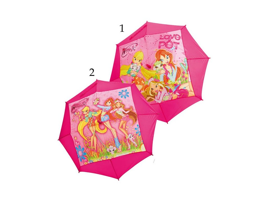 Dětský deštník Winx růžový