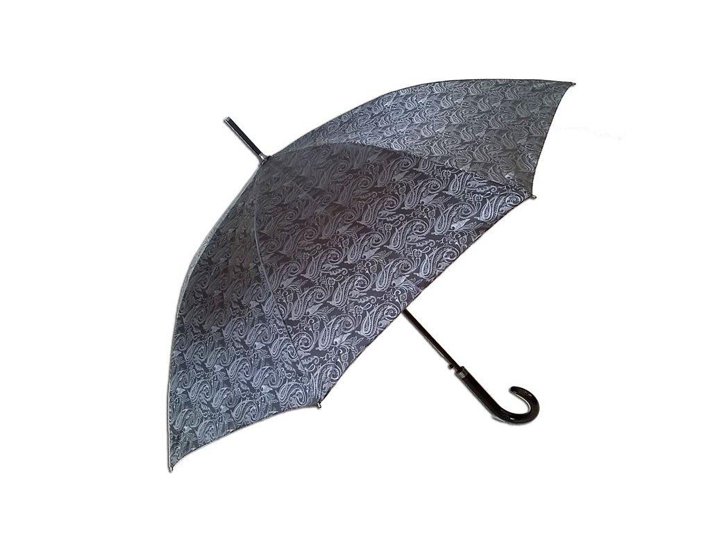 Dámský holový deštník JACQUARD stříbrný
