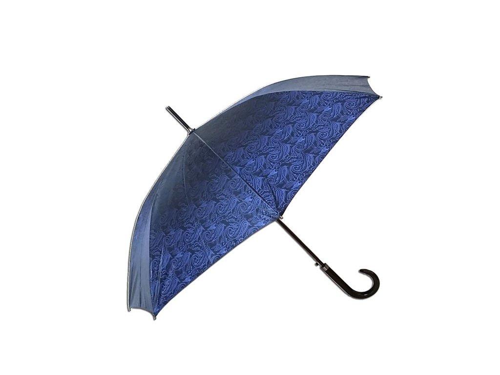Dámský holový deštník JACQUARD modrý