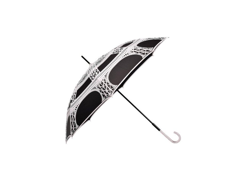 Dámský holový deštník Paříž černý