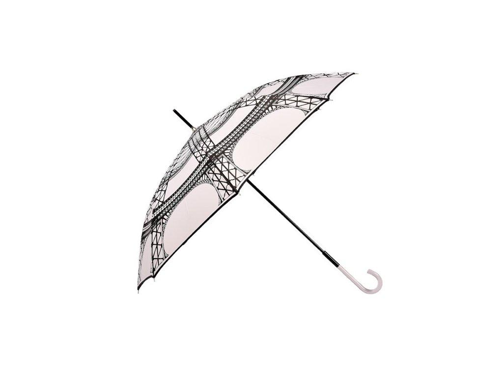 Dámský holový deštník Paříž bílý