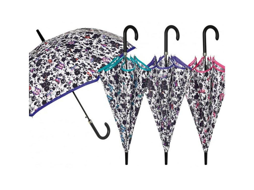 Dámský holový deštník ČB Motýlci