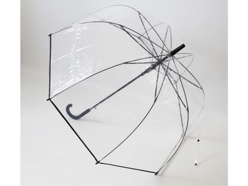 Průhledný deštník čirý s lemem