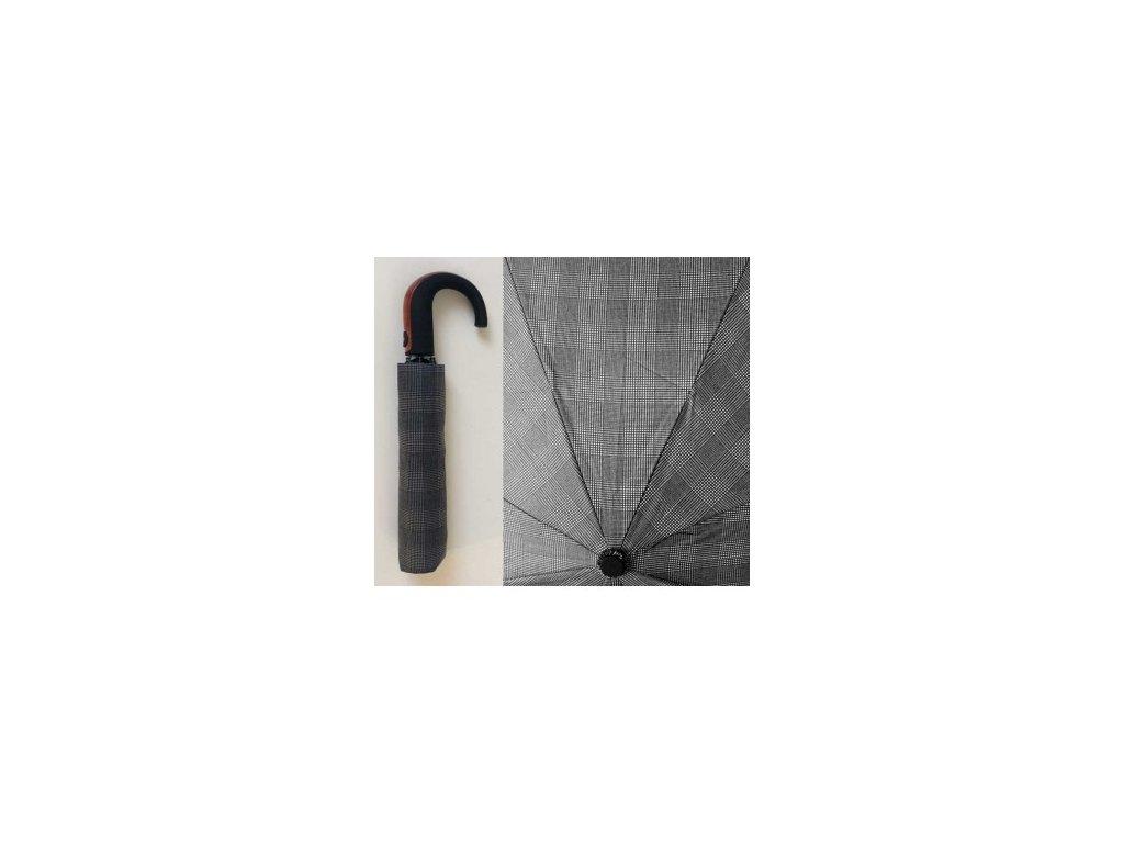 Pánský skládací vystřelovací deštník mřížka jemná