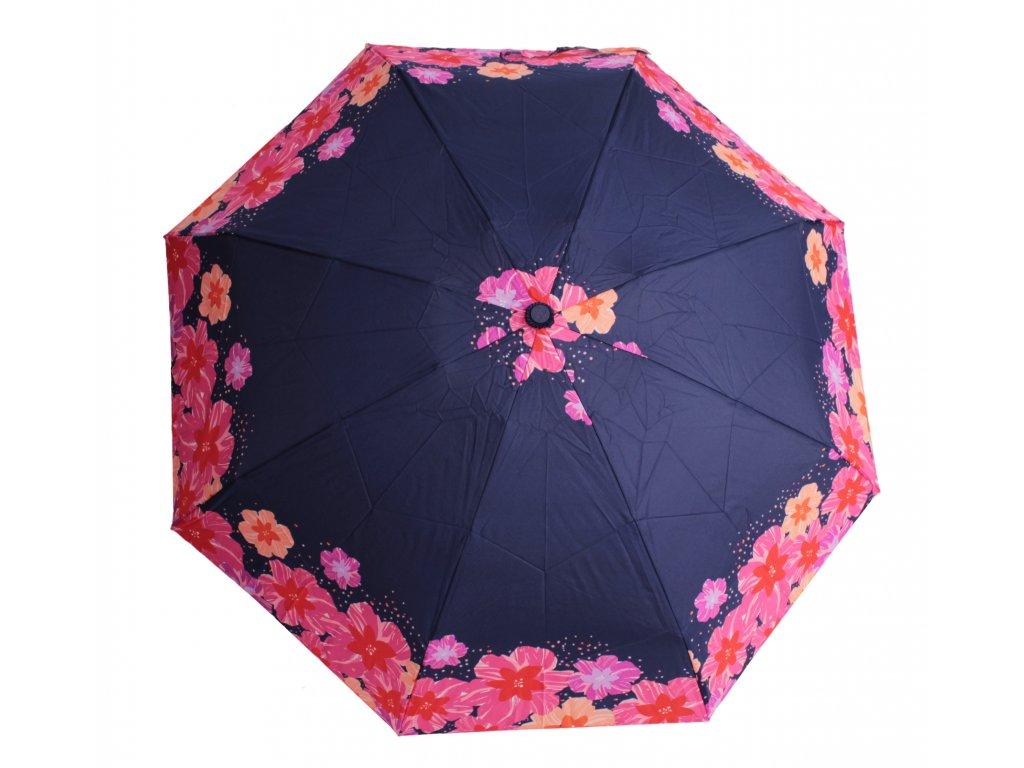 dámský mini skládací deštník Růže vínový