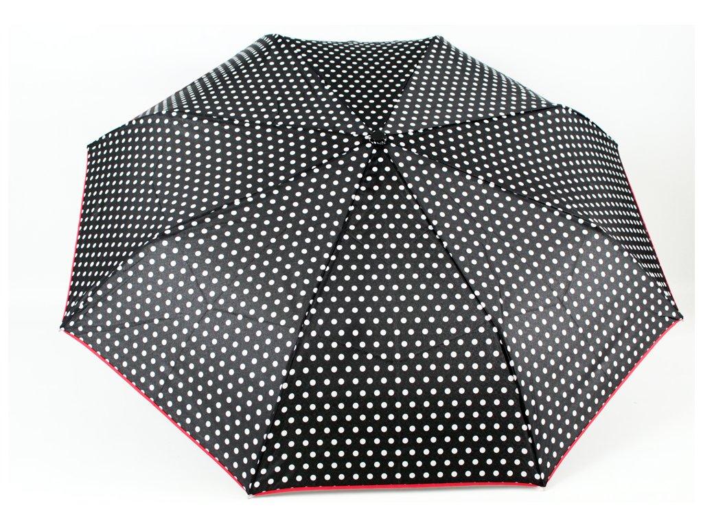 dámský skládací vystřelovací deštník Noty a klaviatura černá