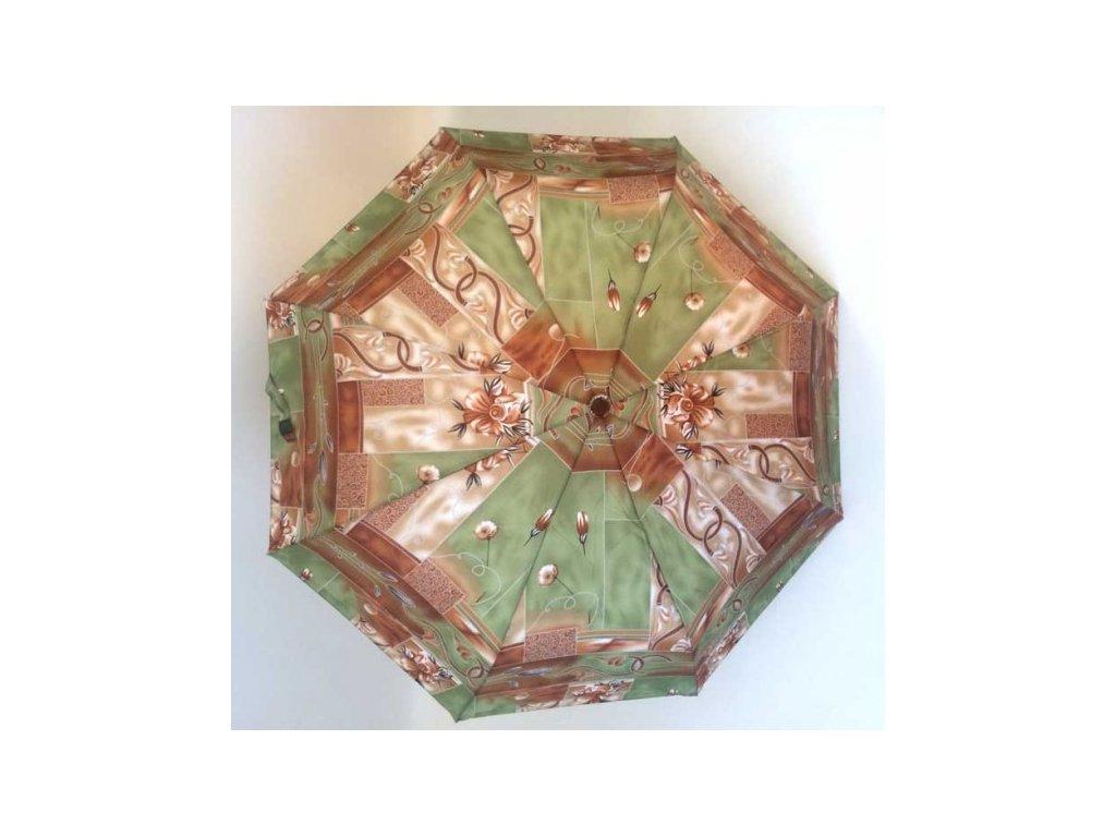 dámský skládací deštník manual Květy