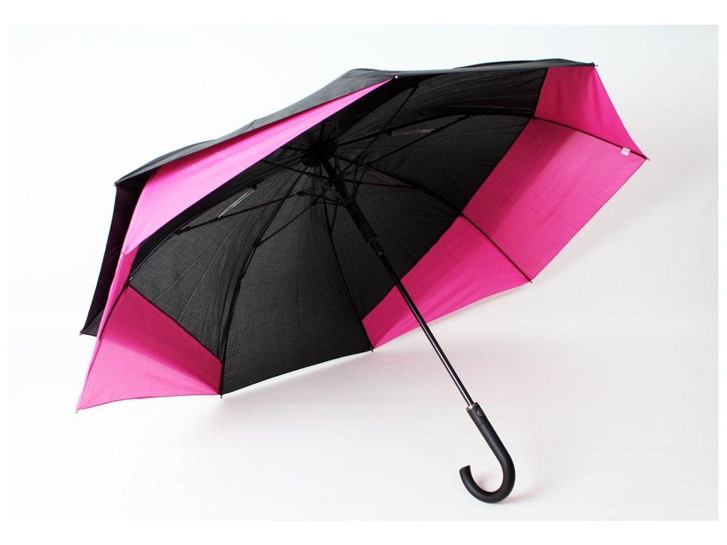 holový deštník pro 2 osoby růžový