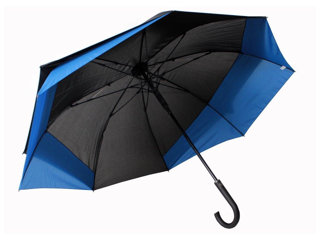 holový deštník pro 2 osoby modrý