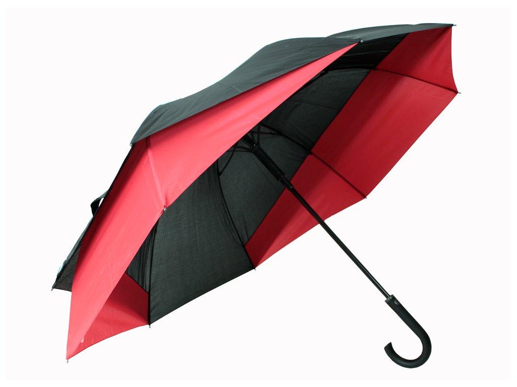holový deštník pro 2 osoby červený
