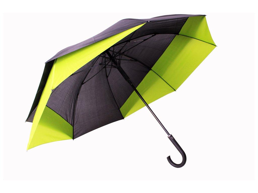 holový deštník pro 2 osoby zelený