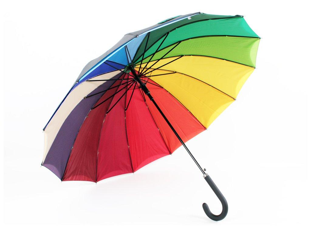 dvouplášťový deštník černý