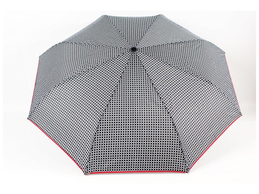 skládací vystřelovací deštník čtverečky