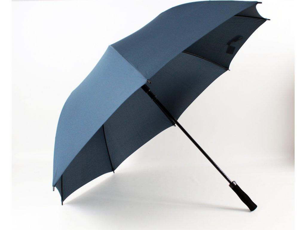 pánský maxi deštník jednobarevný modrý