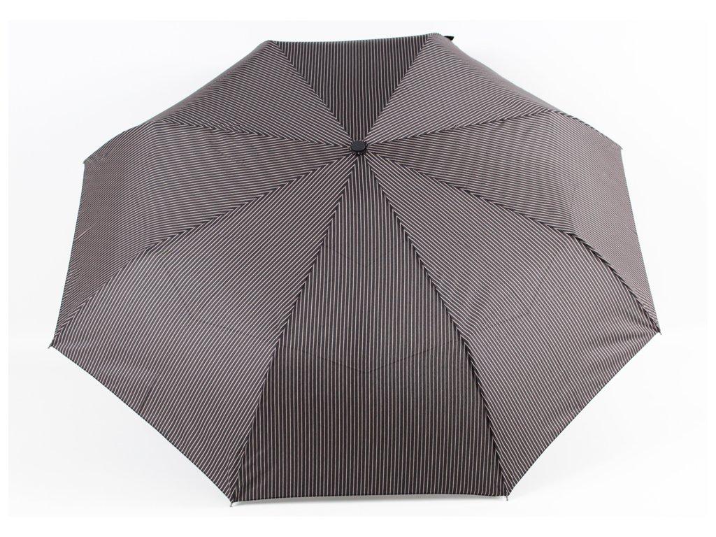 Pánský skládací vystřelovací deštník proužek hnědý