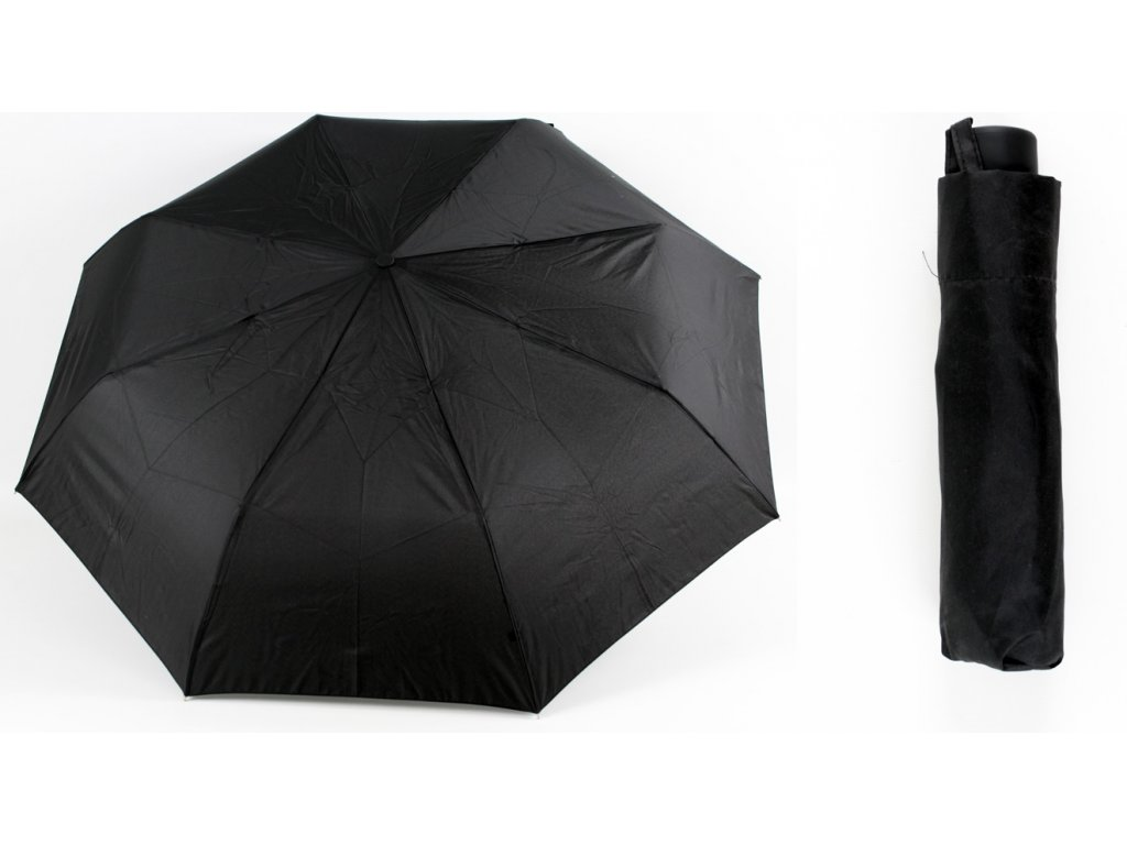 pánský skládací deštník manual černý 3