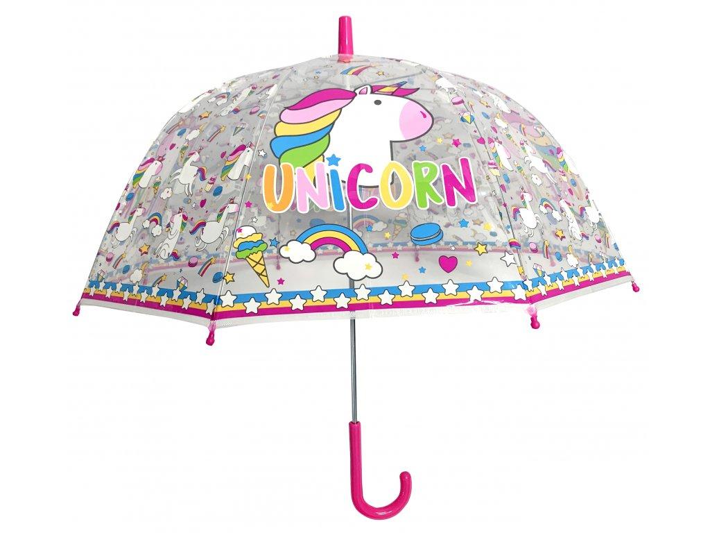 Dětský průhledný deštník Unicorn Jednorožec