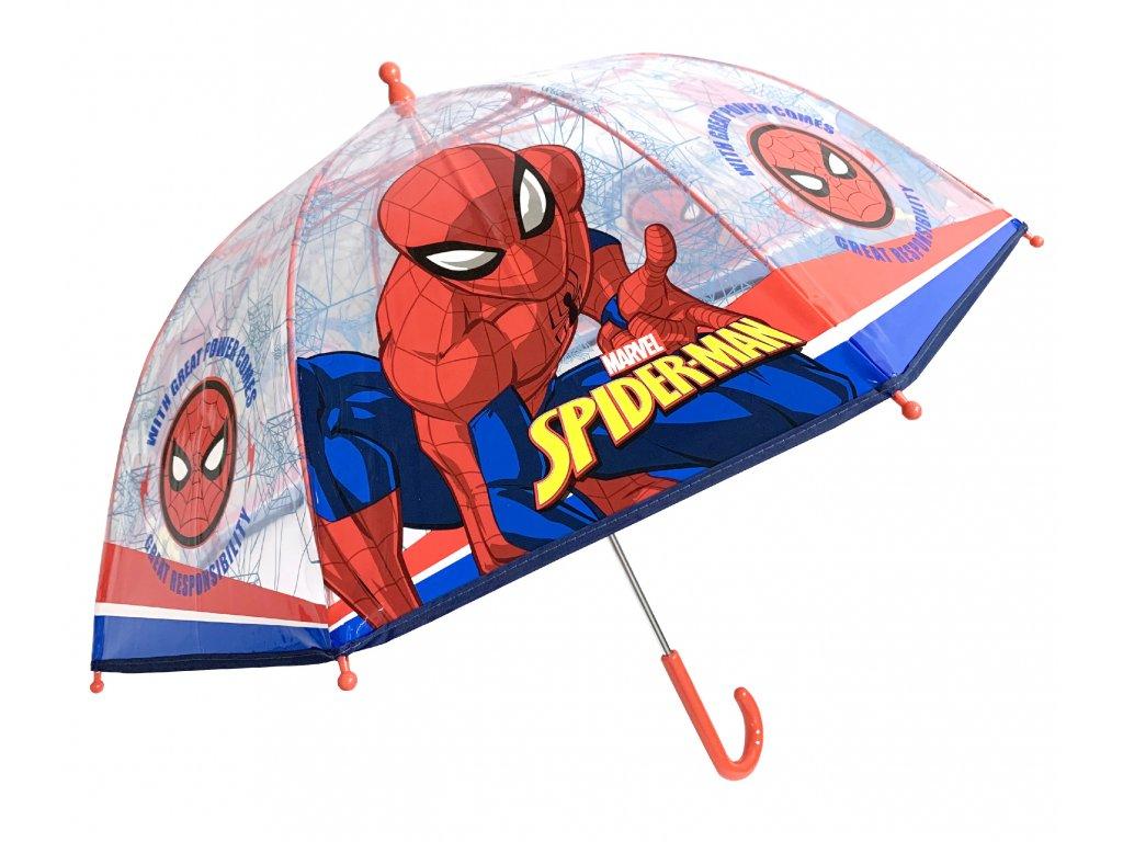Dětský průhledný deštník Spiderman